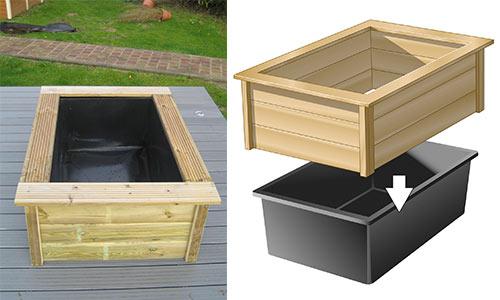 Kit bassin Quadra 365 litres - Ubbink - Hydro Sud